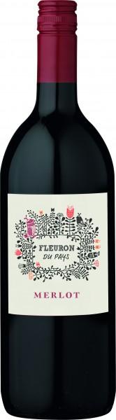 Les Vignerons de la Vicomte Fleuron Merlot I.G.P. Pays d'Oc Liter