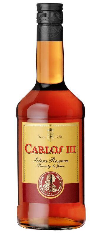 Brandy Carlos III Solera Reserva 36 % Vol.