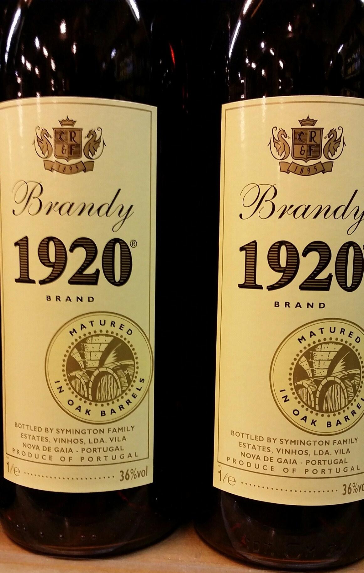 Brandy 1920 aus Portugal 36% Vol. Literflasche