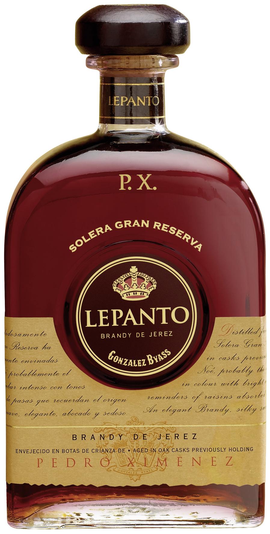 Lepanto Brandy Gran Reserva Ximenez P.X. 36% Vol.